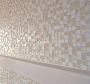 Glass Mosaics- Bathroom Wall