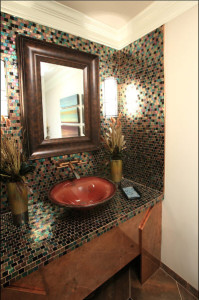 Glass Mosaics-Contemporary Wall