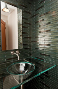 Glass Mosaics- Modern Bathroom Wall