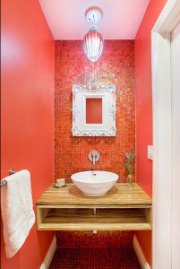 Glass Mosaics- Red Contemporary Wall