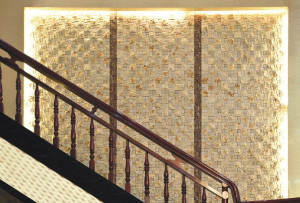 Natural Stone Mosaics- Travertine Wall