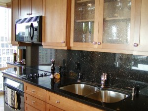 Black Galaxy White Granite Kitchen Countertop