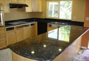 Butterfly Green Granite Kitchen Countertop