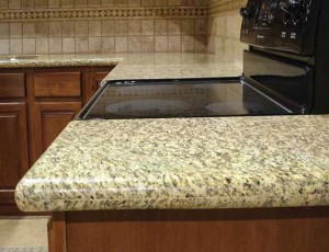 Leo Yellow Granite Kitchen Countertop
