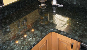 Peacock Green Kitchen Countertop