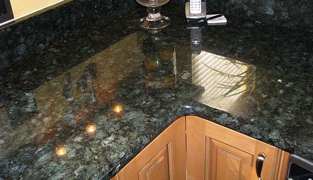 Peacock Green Kitchen Countertop ...